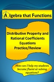 Equations Distributive Property, Rational Coefficients Practice,Worked Solutions