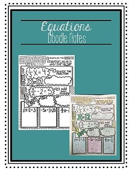 Equations Doodle Notes