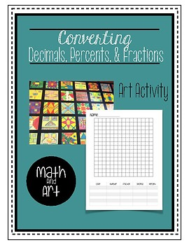 Converting Fractions Decimals and Percents Art Activity