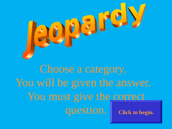 Equations & Expressions Jeopardy