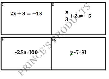 Equations, Expressions, and Inequalities Review