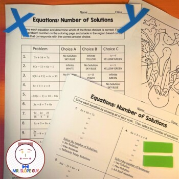 Finding the Number of Solutions PDF Worksheet Go Math MAFS.8.EE.3.7