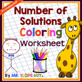 """Equations: """"Variables on Both Sides"""" Number of Solutions COLORING Worksheet"""