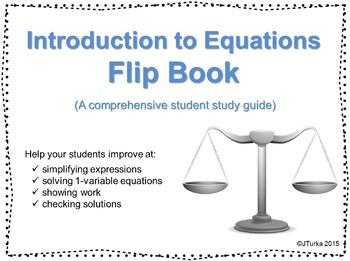 Equations Flip Book