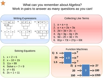 Equations, Formulae and Expressions - Simplifying Expressi