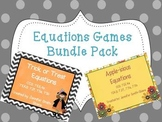Equation Word Problem Task Cards (Fall and Halloween Themed Pack)