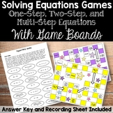 Solving Equations Games - With Gameboards!