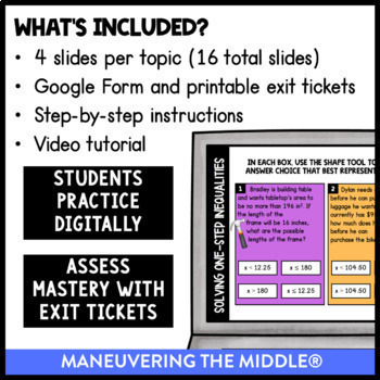 Equations & Inequalities-Digital Math Activities(Distance Learning)Google Slides