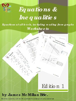 Equations & Inequalities  Equations at all levels, (96 pages)