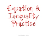 Equations & Inequalities with Variables on Both Sides