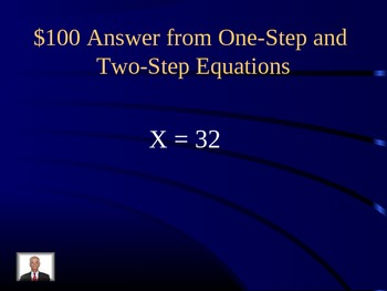 Equations Jeopardy