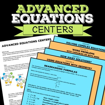 Equations Math Centers