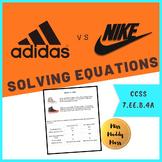 Equations Math Performance Task (Adidas and Nike)