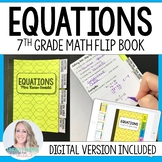 Equations Mini Tabbed Flip Book for 7th Grade Math