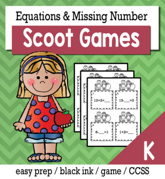 Equations and Missing Number - Scoot Game/Task Cards