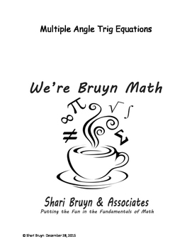 Equations - Multiple Angle
