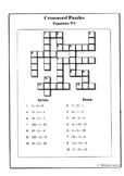 Equations No1 (Crossword Puzzles)