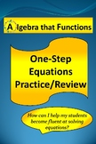 One-Step Equations Practice/Review