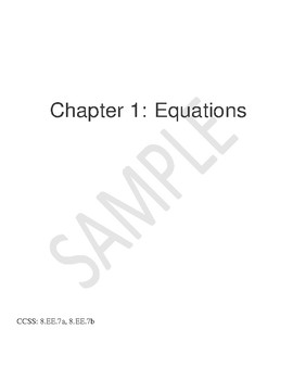 Equations- One step, two step, multi-step & literal