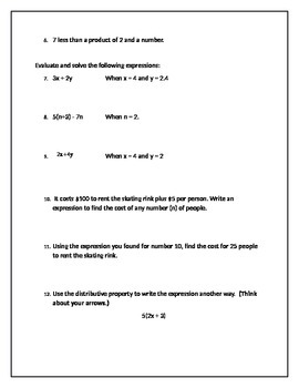Equations / Order of Operations Test