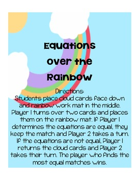 Equations Over the Rainbow Math Center
