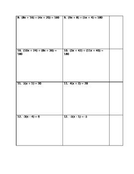 Equations Partner Assignment