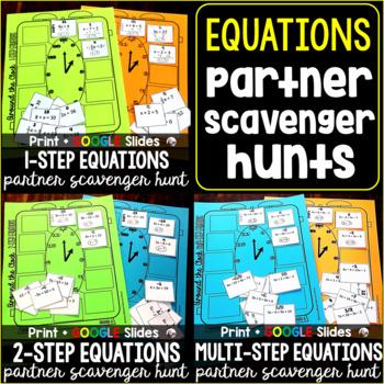 Equations Partner Scavenger Hunt Bundle