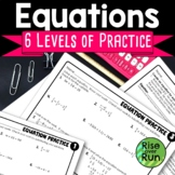 Equations Practice Worksheets, Free