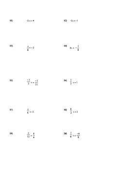 Equations Practice Worksheet