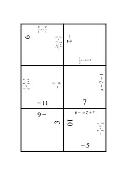 Equations Puzzle
