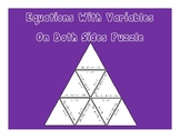 Equations Puzzle Activity