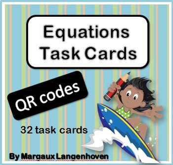 Equations QR code Task Cards