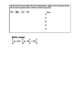 Equations Quiz