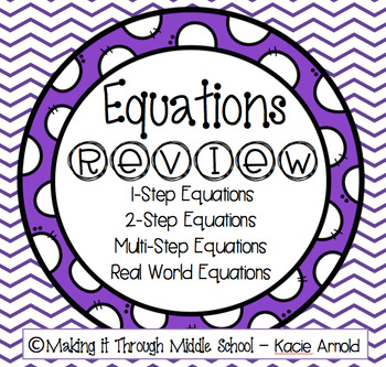 Equations Review Packet