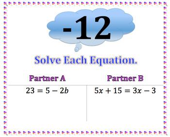 Equations Scavenger Hunt 7EE4