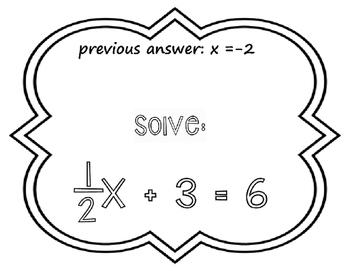 Equations Scavenger Hunt