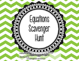 Equations Scavenger Hunt