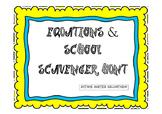 Equations Scavenger Hunt 7th, 8th grade