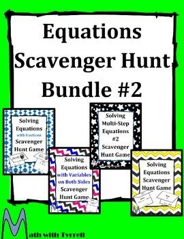 Equations Scavenger Hunt Bundle #2