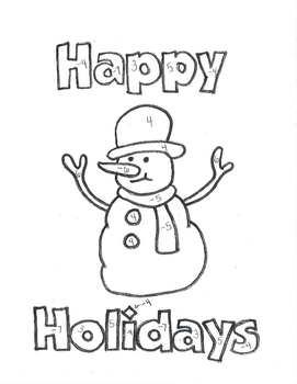 Equations Snowman Coloring Sheet