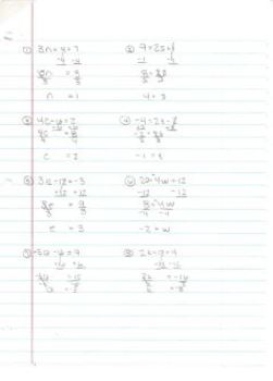 Equations - Solving Two-Step Equations Fun Puzzle Worksheet TWO