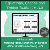 Equations, Tables, and Graphs Digital and Paper Task Cards