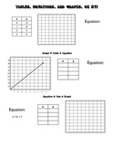 Equations, Tables, and Graphs, Oh My!