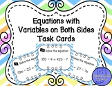Equations Task Cards with Variables on Both Sides