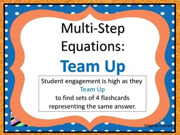 Equations:  Team Up