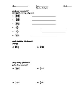 Equations Test Review