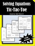 Equations Tic-Tac-Toe (4 PACK!)
