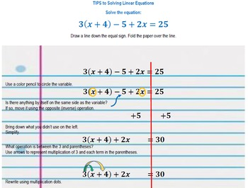 Equations: Tips for Solving Linear Equations