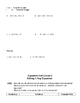 Equations Unit Notes