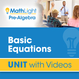 Equations | Pre Algebra Unit with Videos | Good for Distan